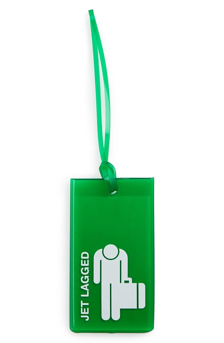 Flight 001 Jet Lagged Transparent Rubber Luggage Tag Nordstrom