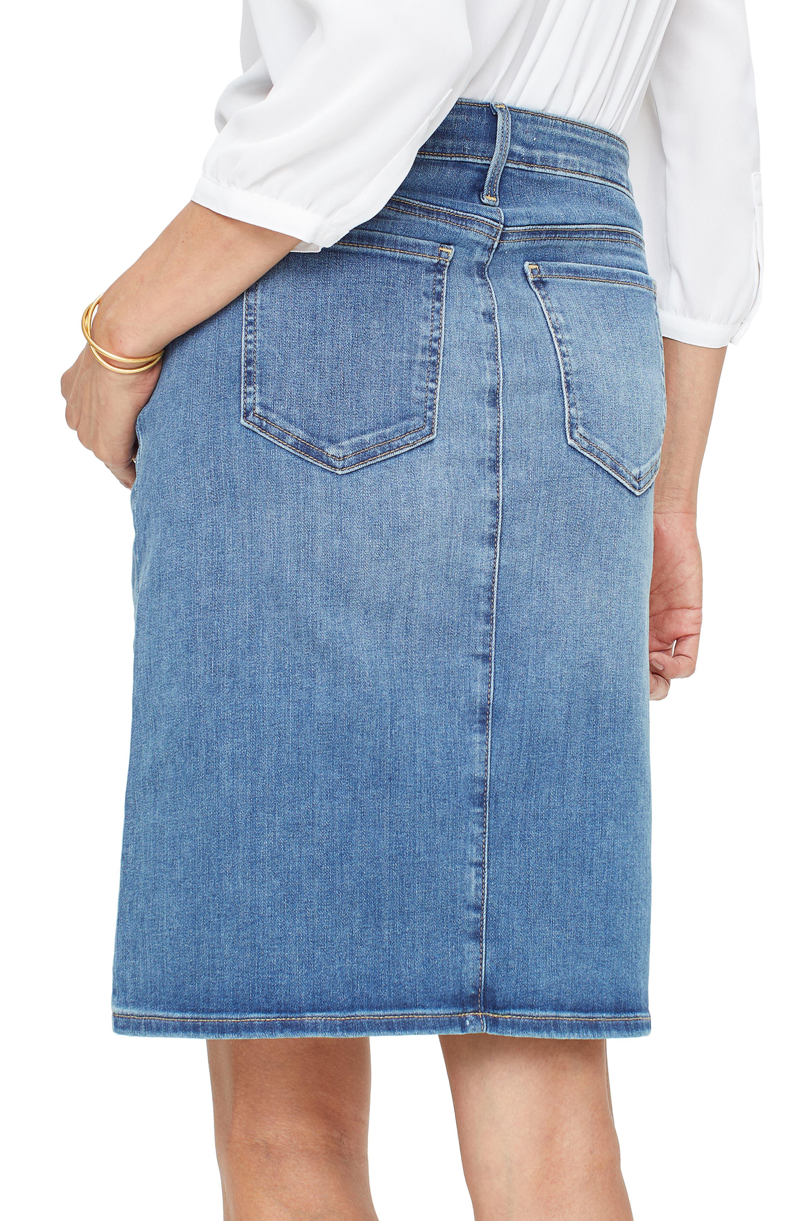 ,                             Denim Skirt,                             Alternate thumbnail 2, color,                             RHODES