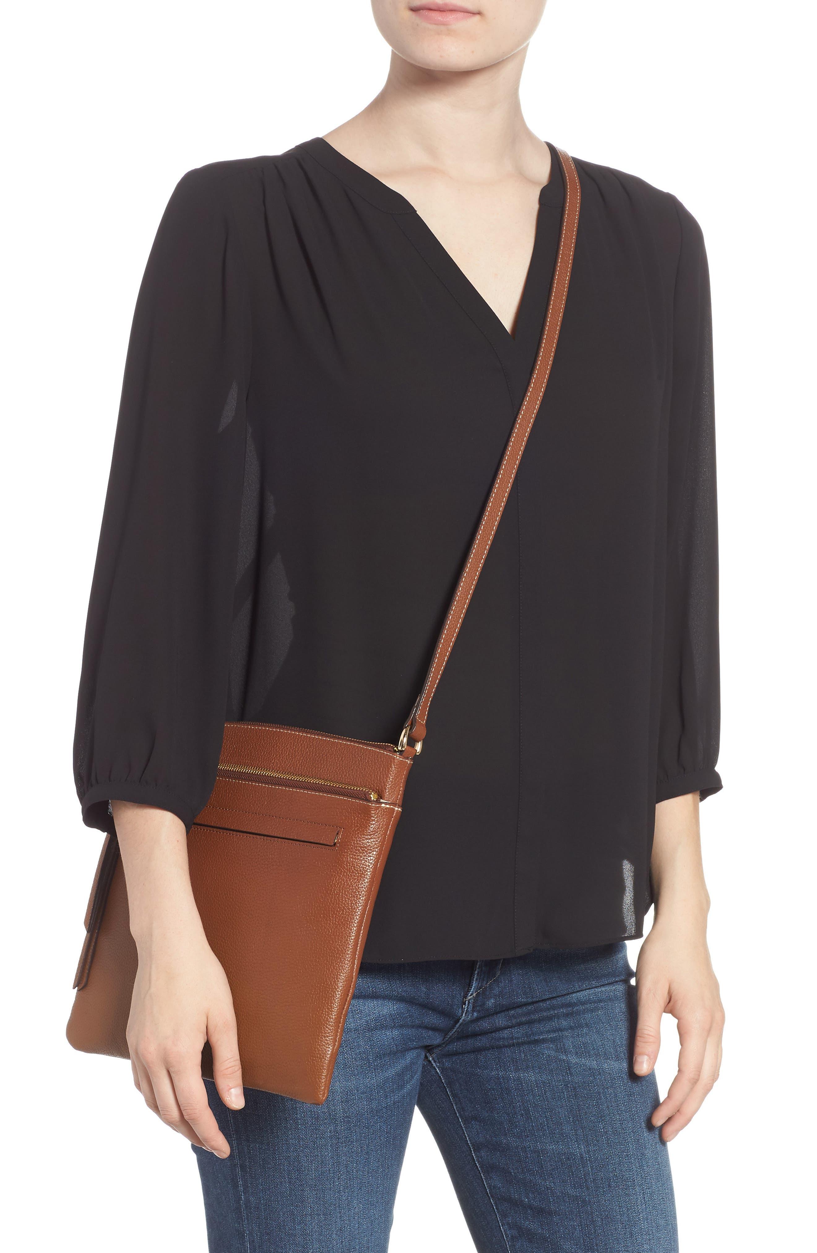 ,                             Finn Leather Crossbody Bag,                             Alternate thumbnail 2, color,                             BROWN AZTEC