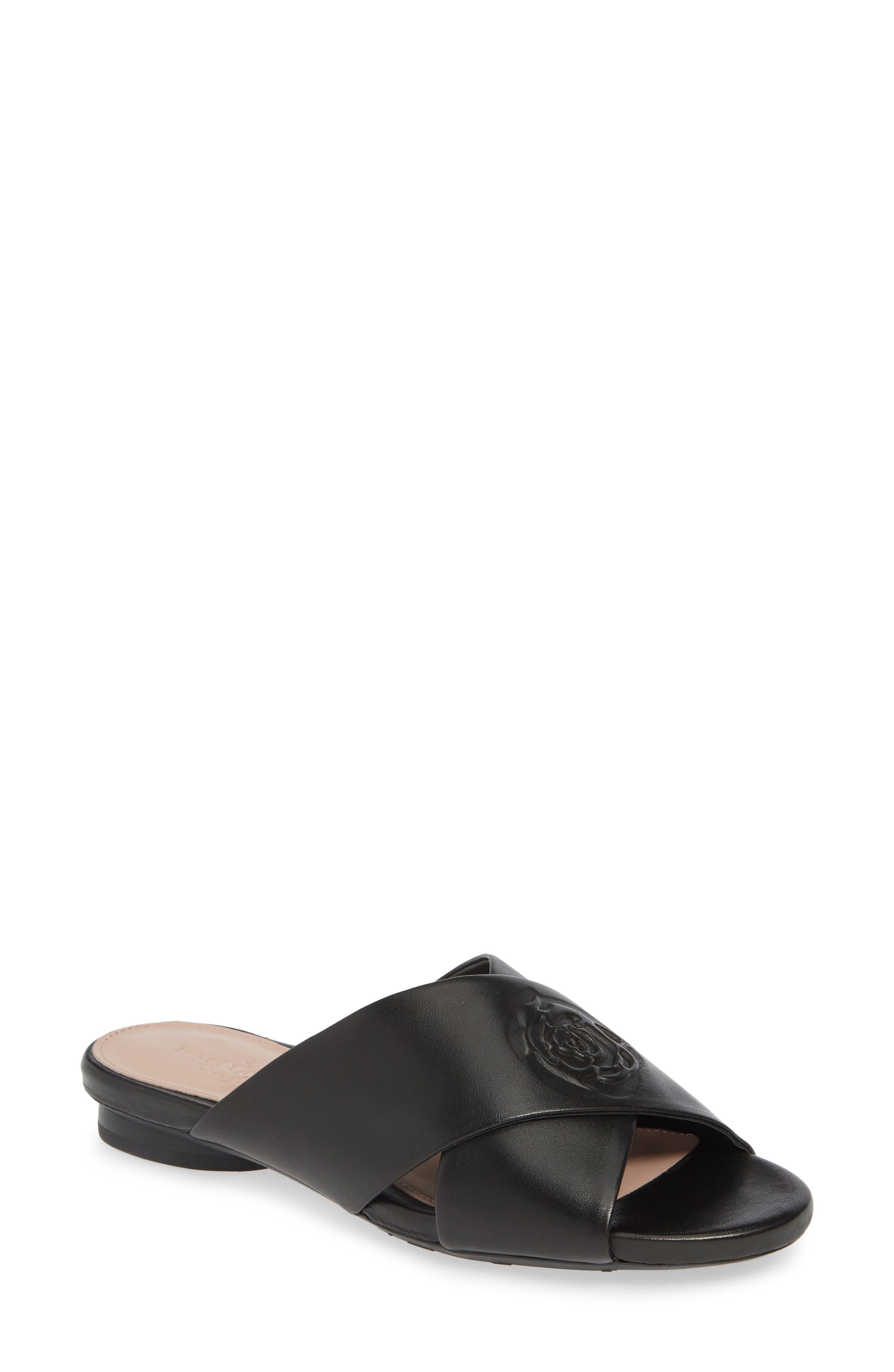 Taryn Rose Collection Leah Slide Sandal, Black
