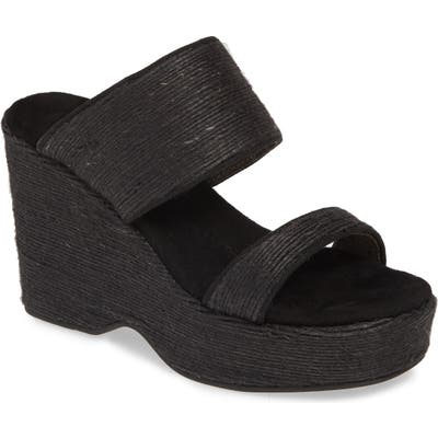 Band Of Gypsies Dusk Wedge Slide Sandal, Black