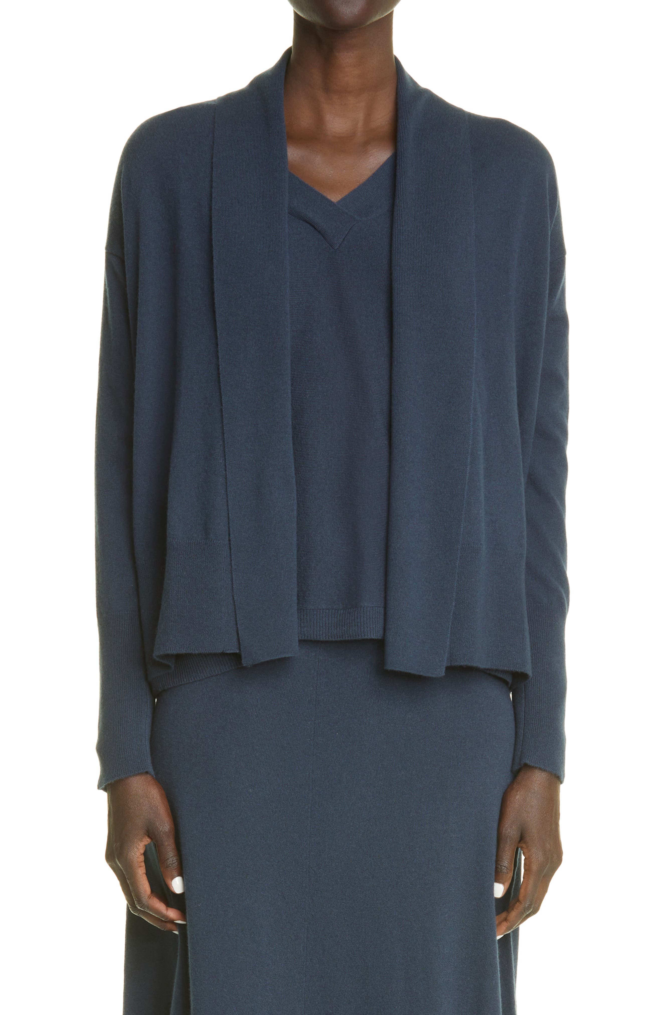Bella Waterfall Open Front Cashmere Cardigan