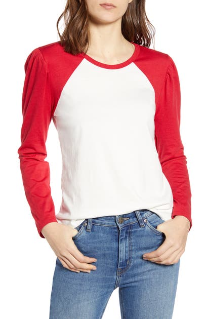 SPLENDID VISTA RAGLAN SLEEVE COTTON BLEND TEE