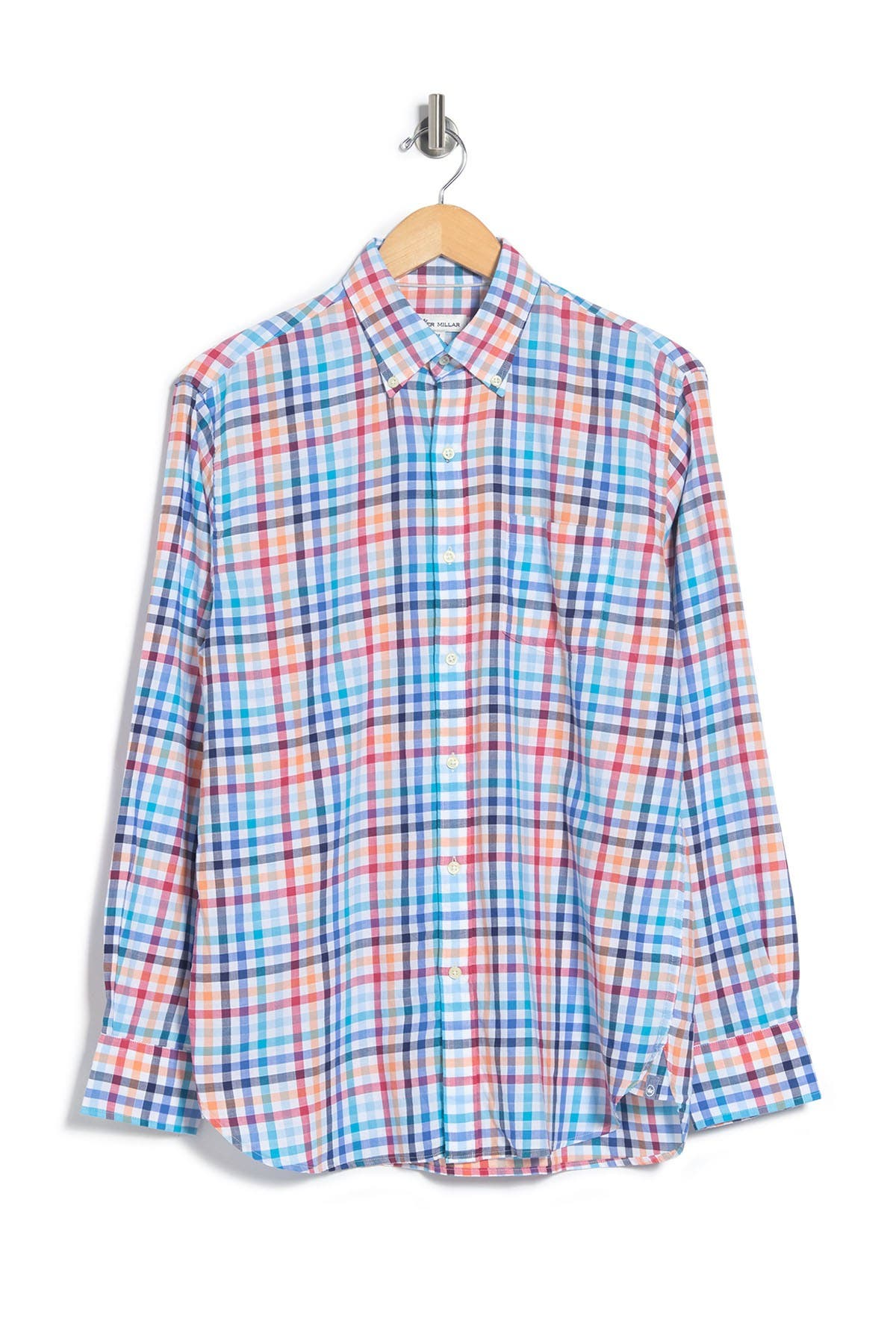 Image of Peter Millar Seaside Galleon Check Dress Shirt