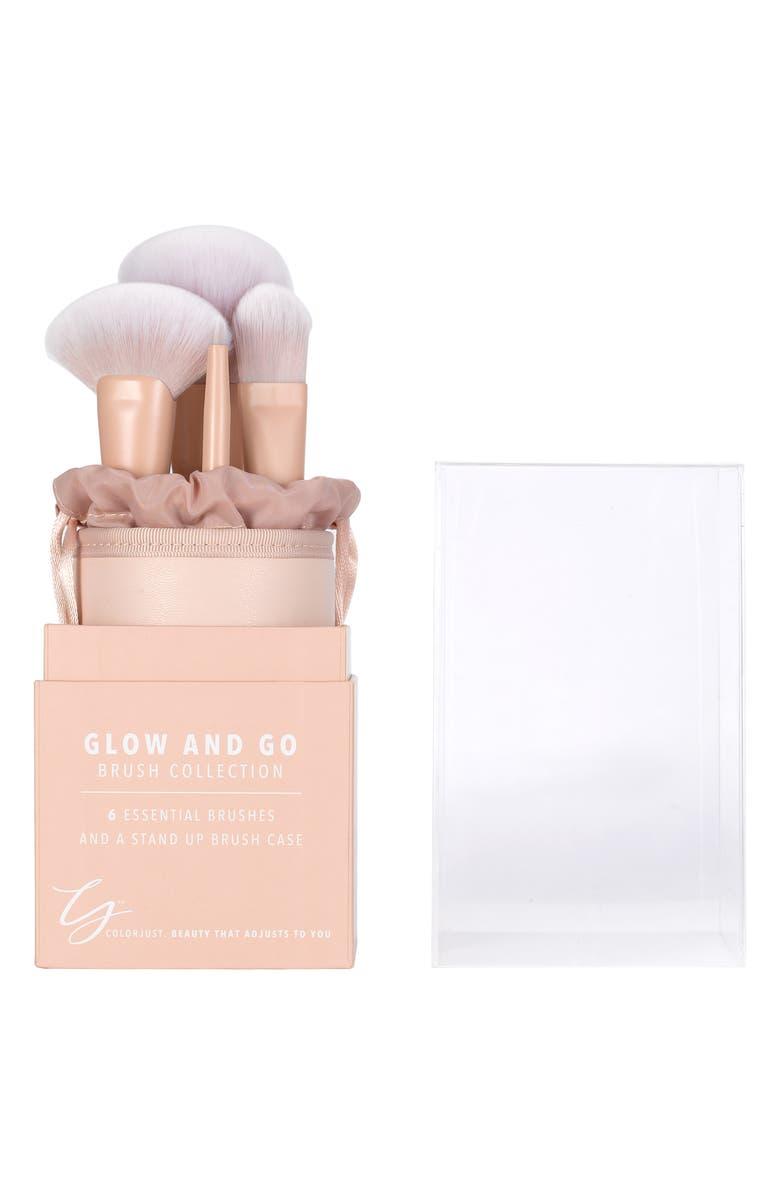 COLORJUST Matte Pink Brush Set, Main, color, NO COLOR