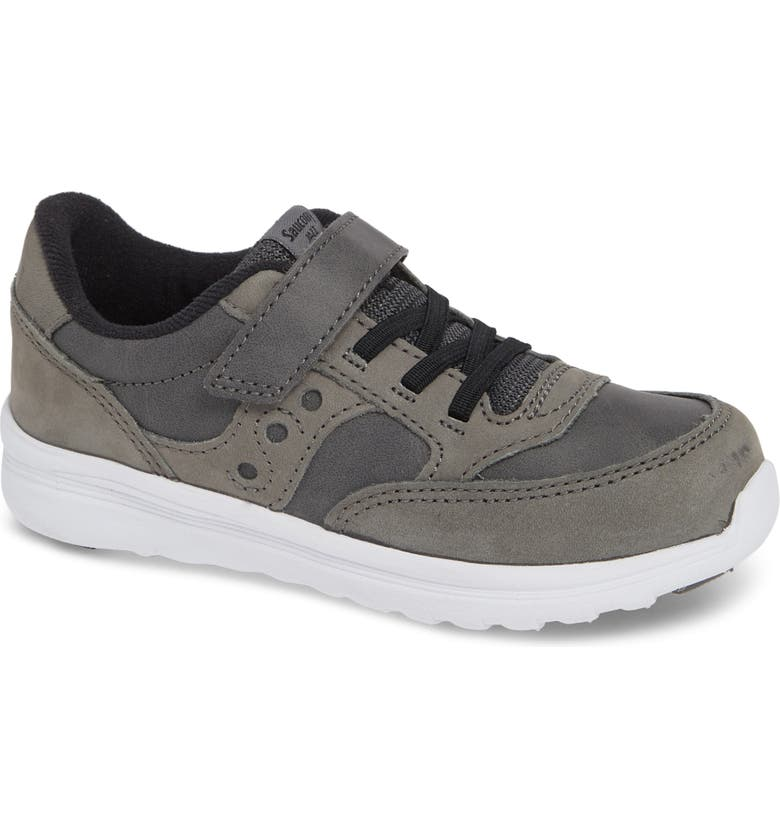 SAUCONY 'Baby Jazz - Lite' Sneaker, Main, color, GREY LEATHER