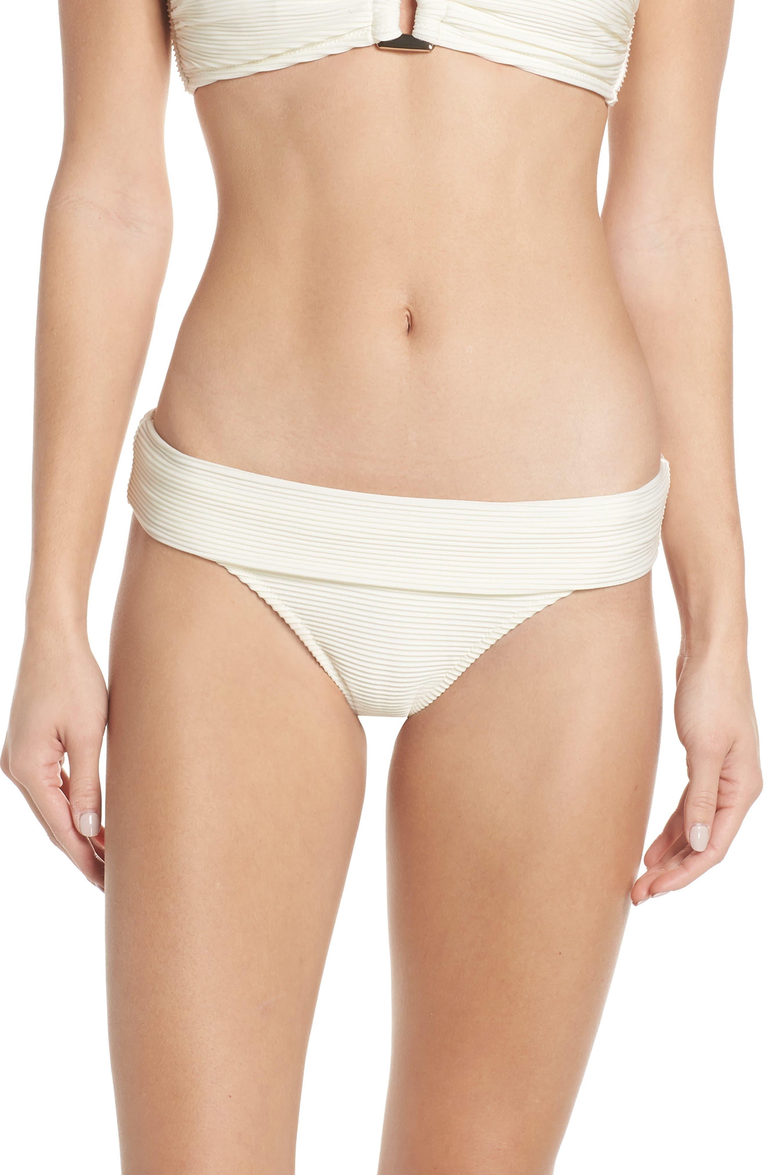 Heidi Klein Foldover Bikini Bottoms, Ivory