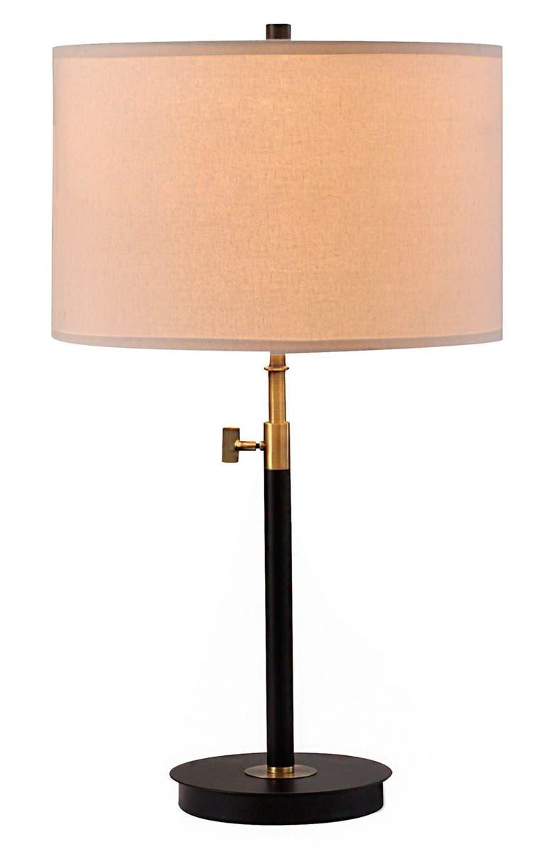 JALEXANDER LIGHTING JAlexander Adjustable Table Lamp, Main, color, BLACK