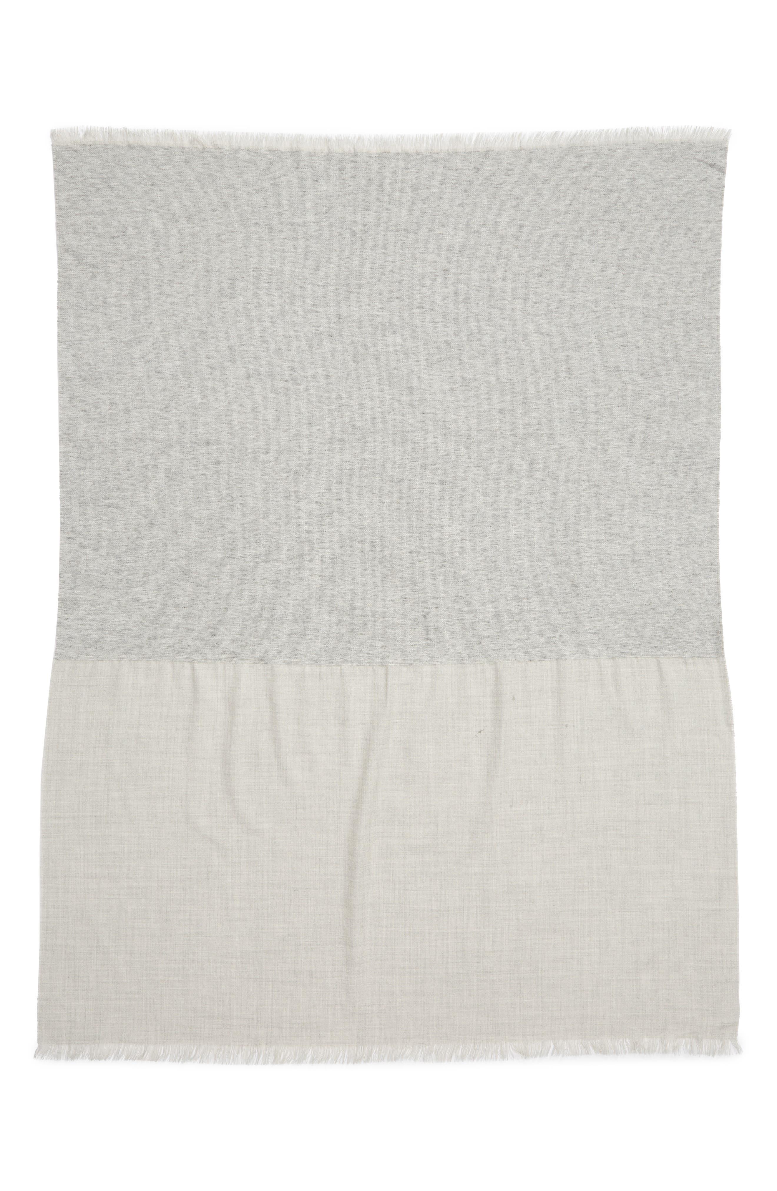,                             Double Texture Alpaca Blend Throw Blanket,                             Alternate thumbnail 3, color,                             LIGHT GREY
