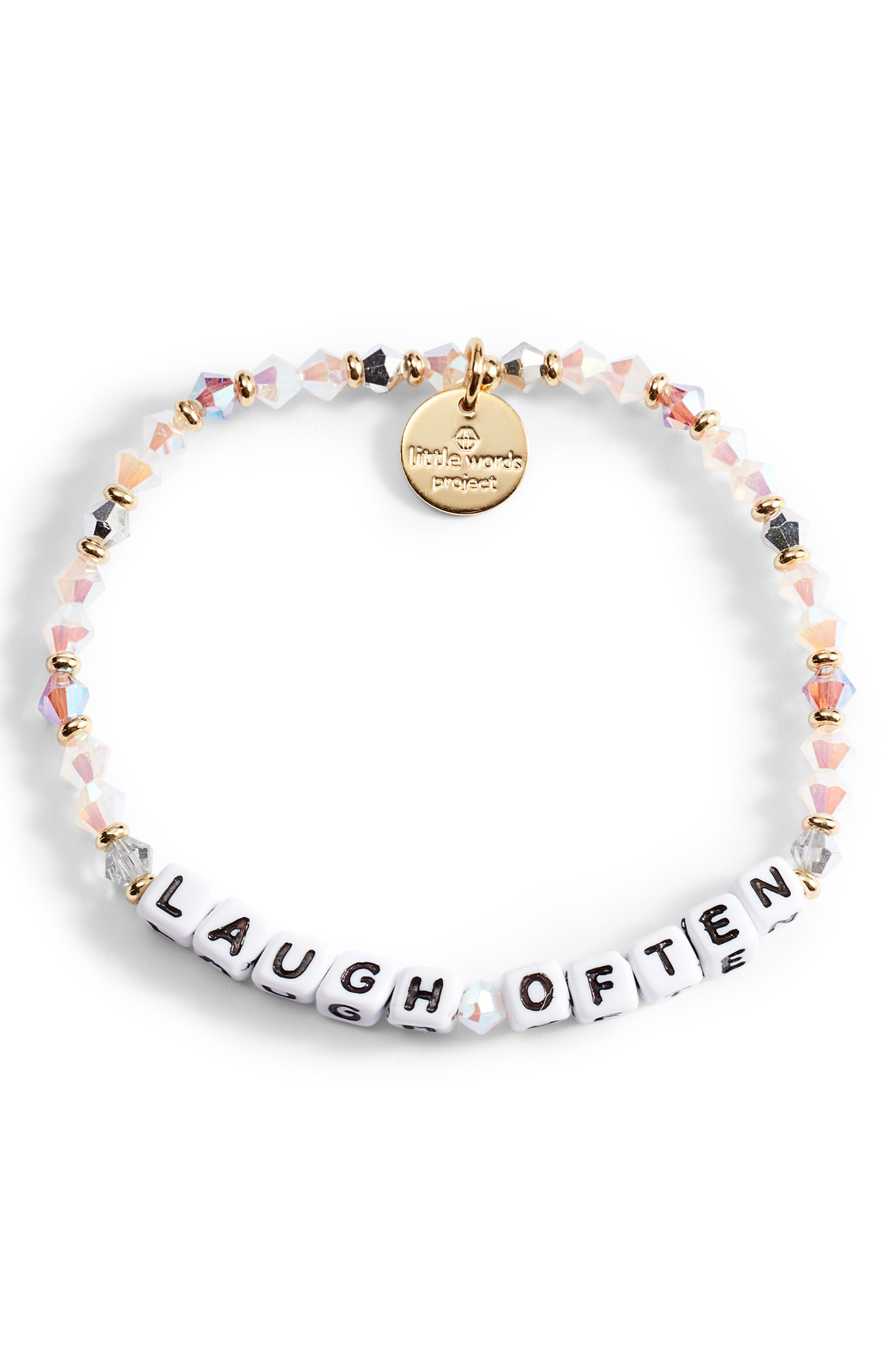 Laugh Often Beaded Stretch Bracelet