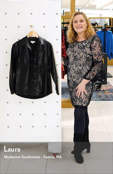Faux Leather Shirt Jacket, sales video thumbnail