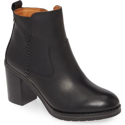 Pikolinos Pompeya Block Heel Bootie, Black