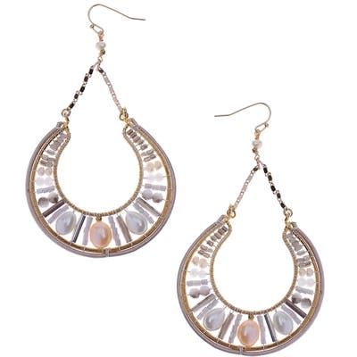 Nakamol Design Mix Cultured & Freshwater Pearl Drop Earrings