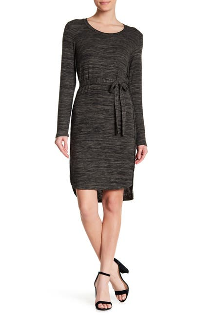 Image of 14TH PLACE Long Sleeve Hi-Lo Knit Dress
