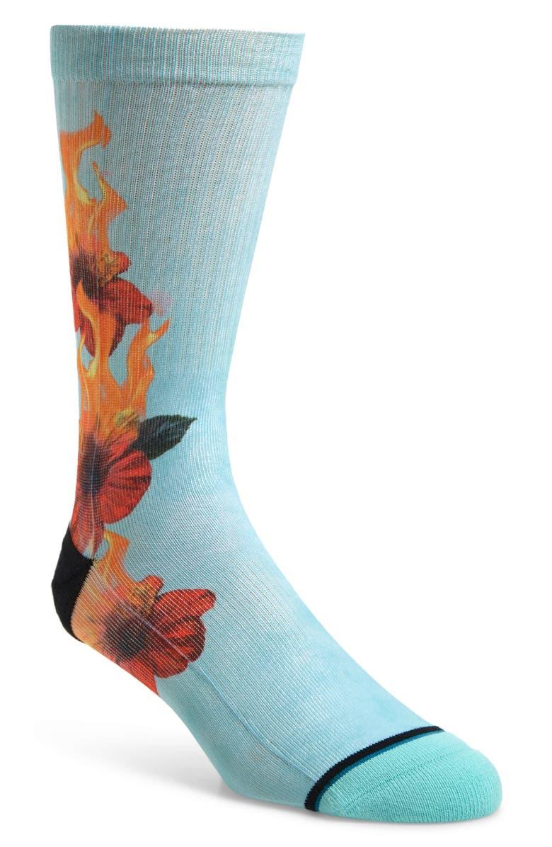 STANCE Burnt Socks, Main, color, BLUE