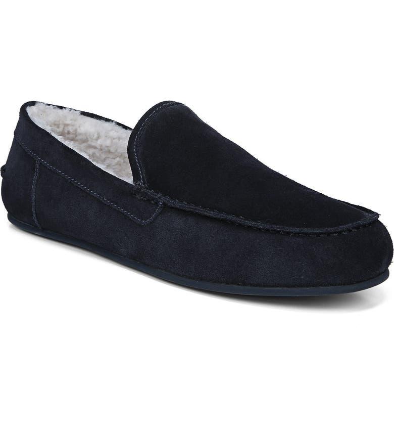 VINCE Gino Genuine Shearling Slipper, Main, color, COASTAL BLUE