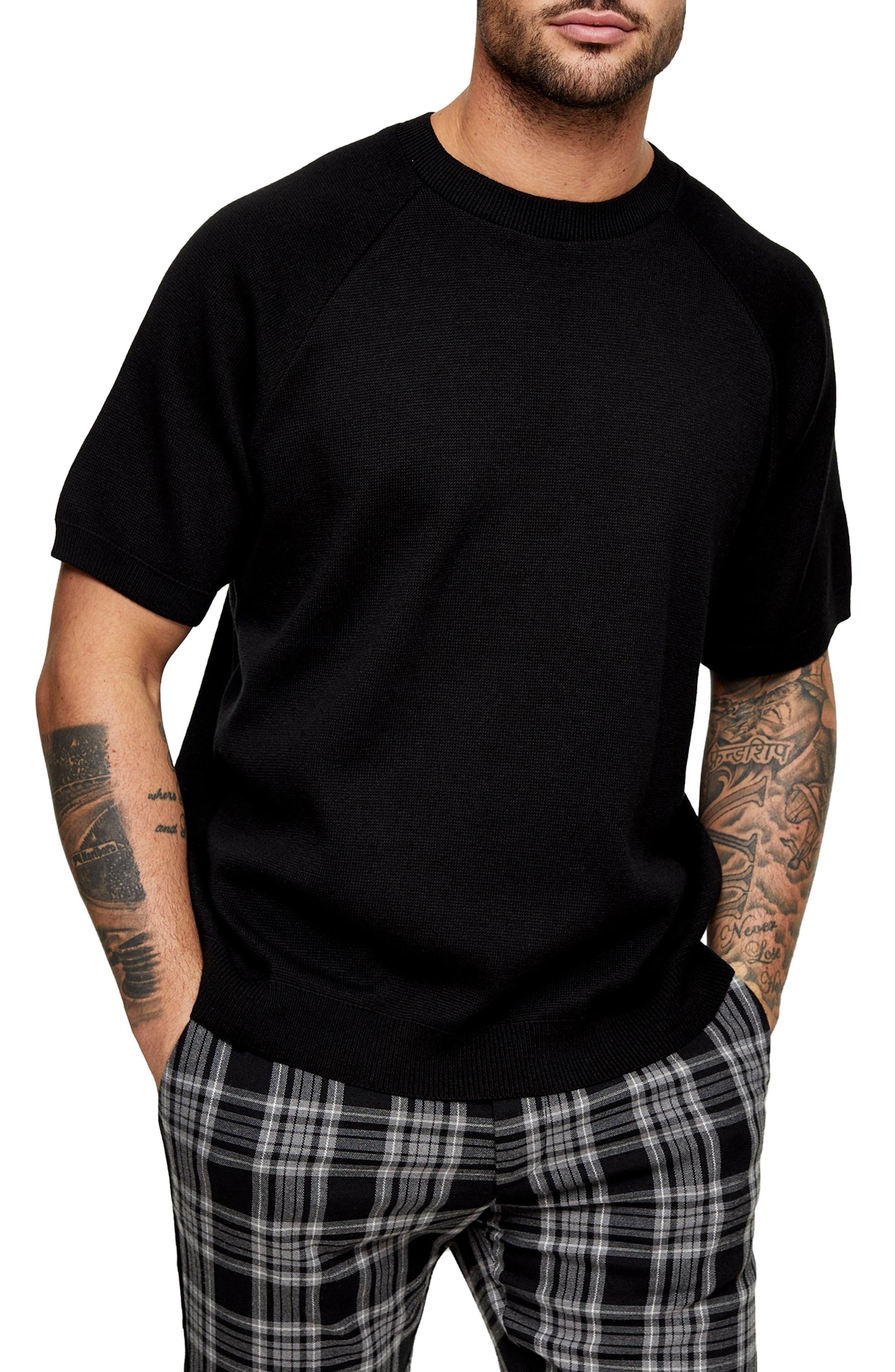 Mens Vintage Shirts – Retro Shirts Mens Topman Short Sleeve Crewneck Sweater $40.00 AT vintagedancer.com