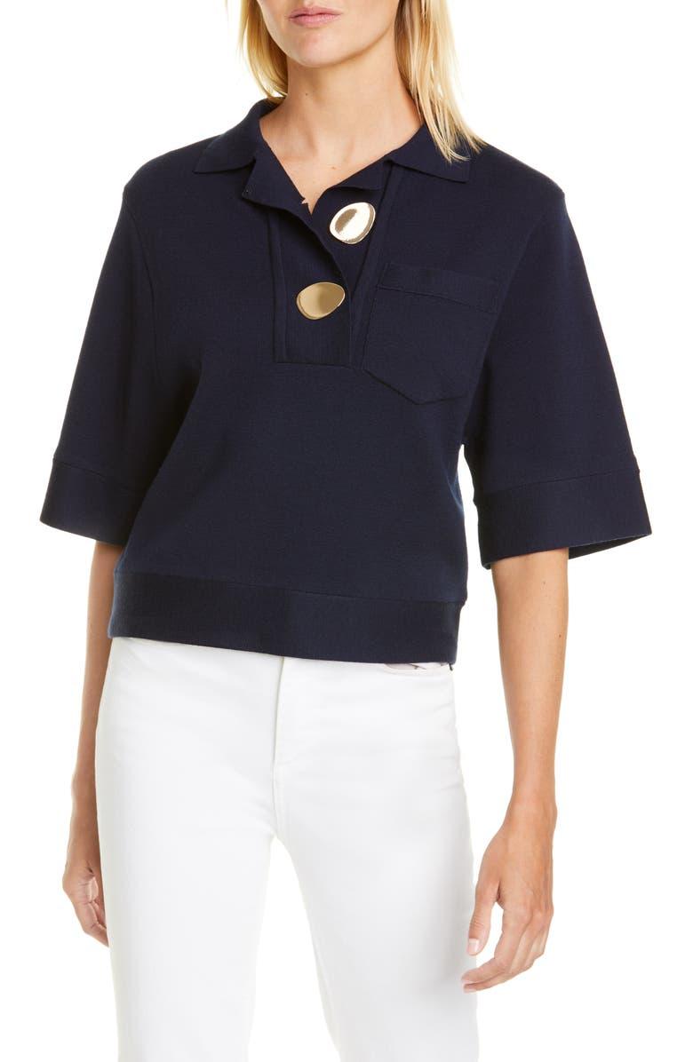 BA&SH Poline Wool Blend Sweater, Main, color, BLEUNUIT