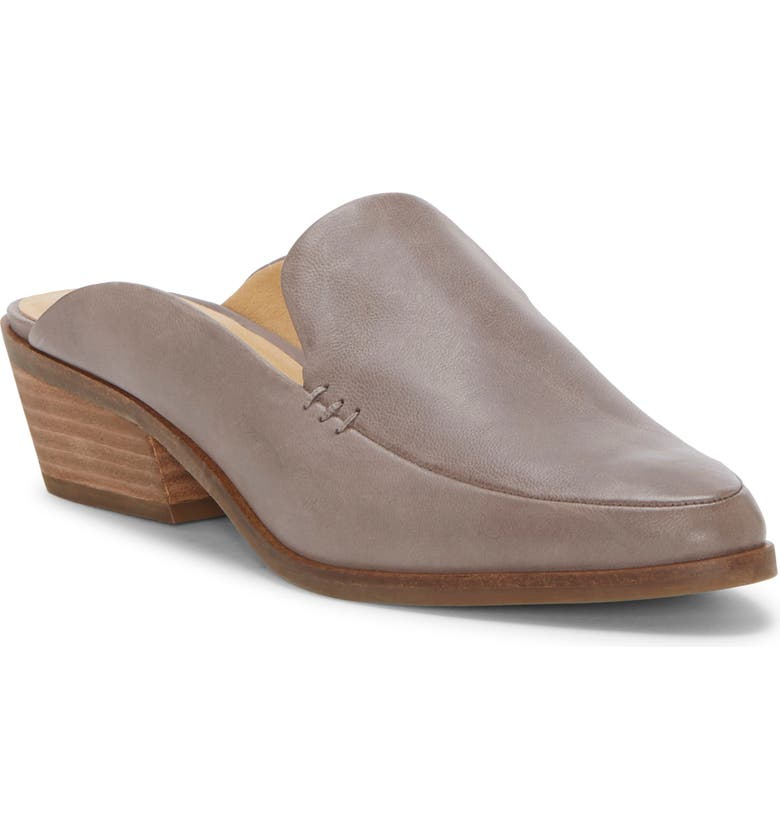 LUCKY BRAND Margrete Mule, Main, color, TITANIUM LEATHER