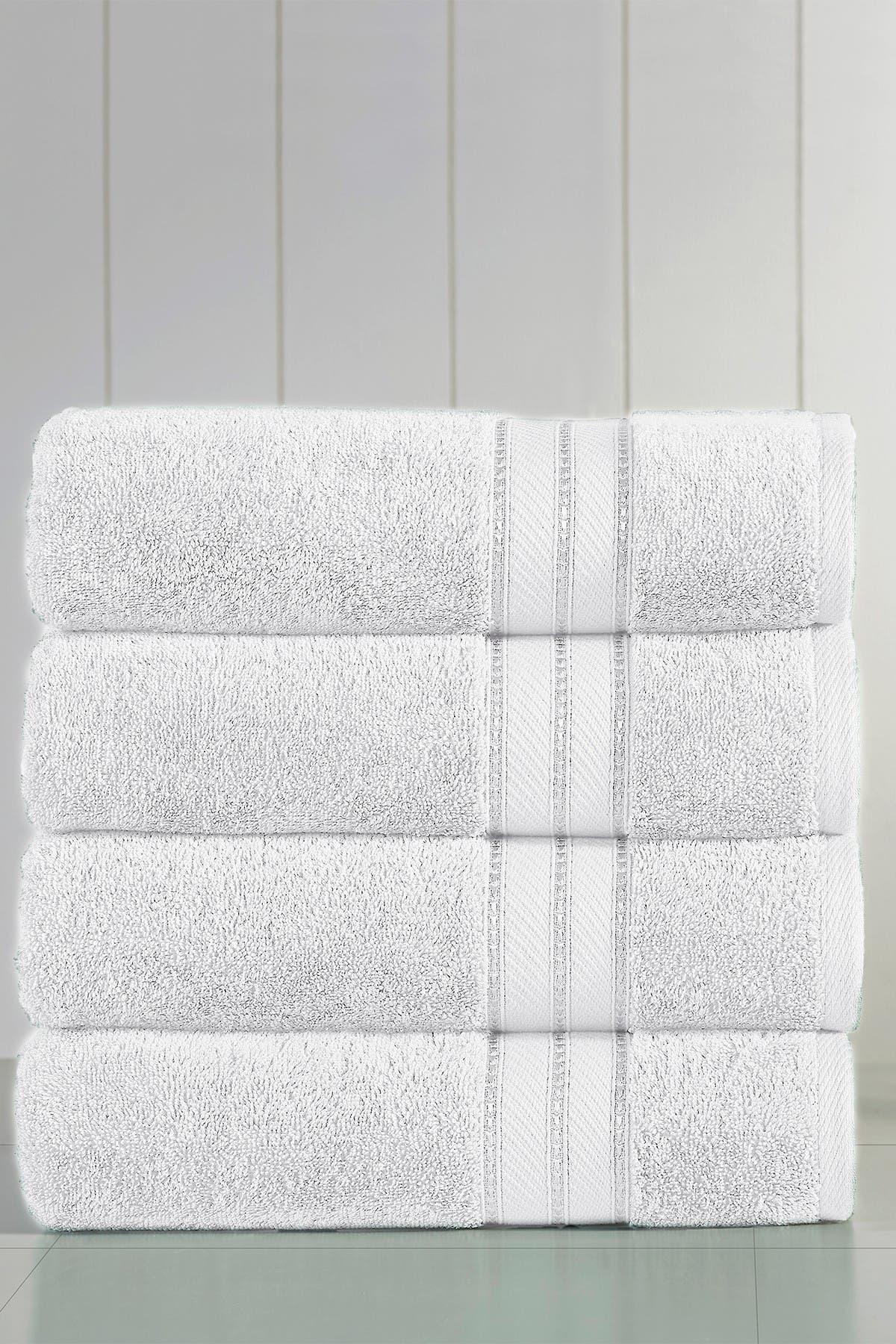 Image of Modern Threads Spunloft Bath Towel - Set of 4 - White