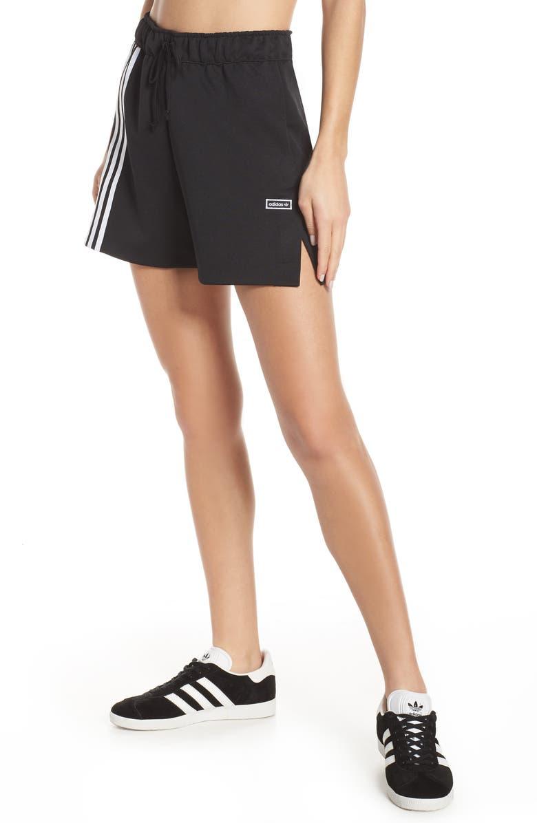 ADIDAS ORIGINALS adidas Orignals 3-Stripes Athletic Shorts, Main, color, BLACK