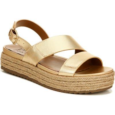 Naturalizer Jasmin Platform Espadrille Sandal, Metallic