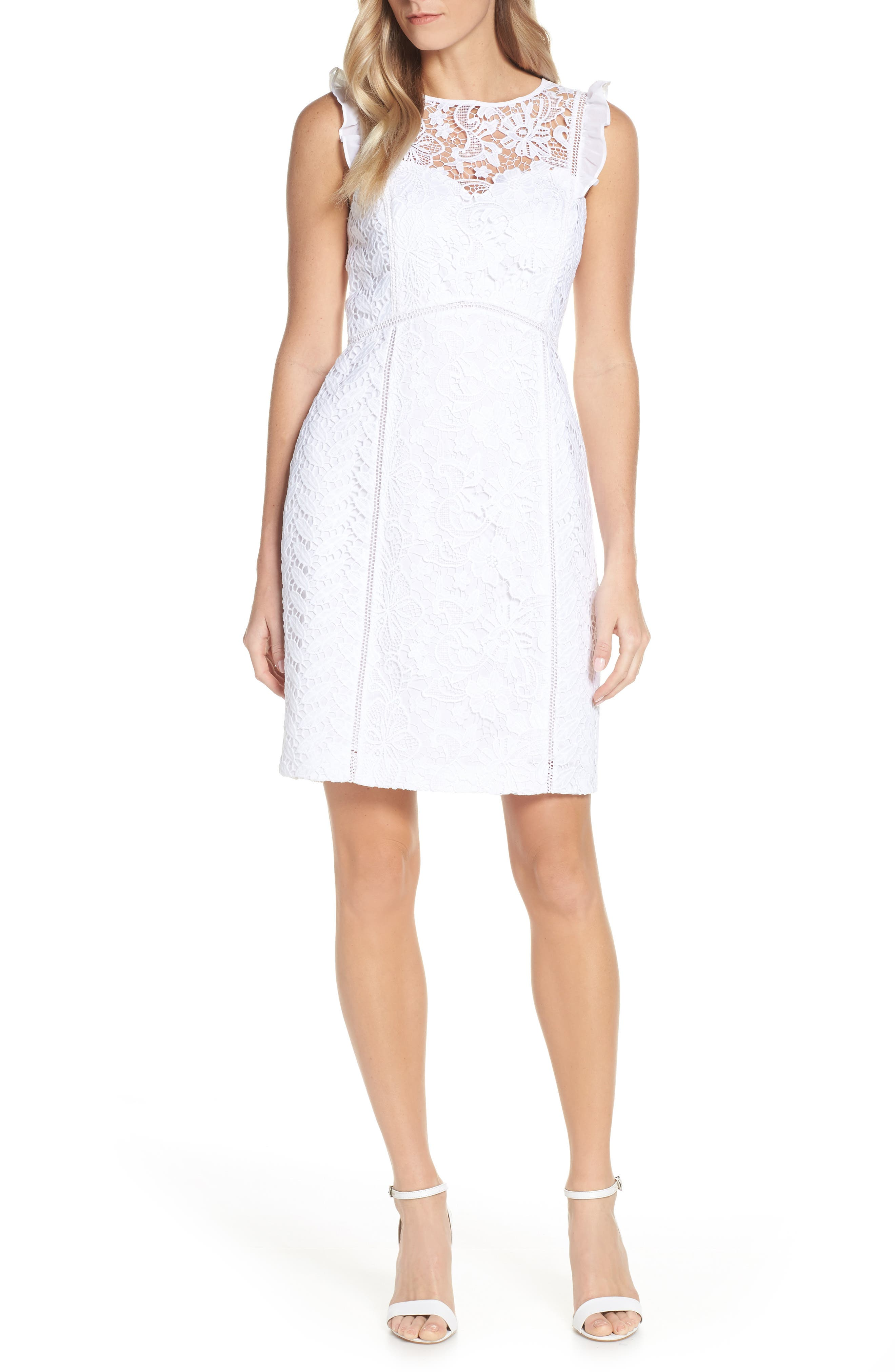 Lilly Pulitzer Maya Lace Shift Dress, White