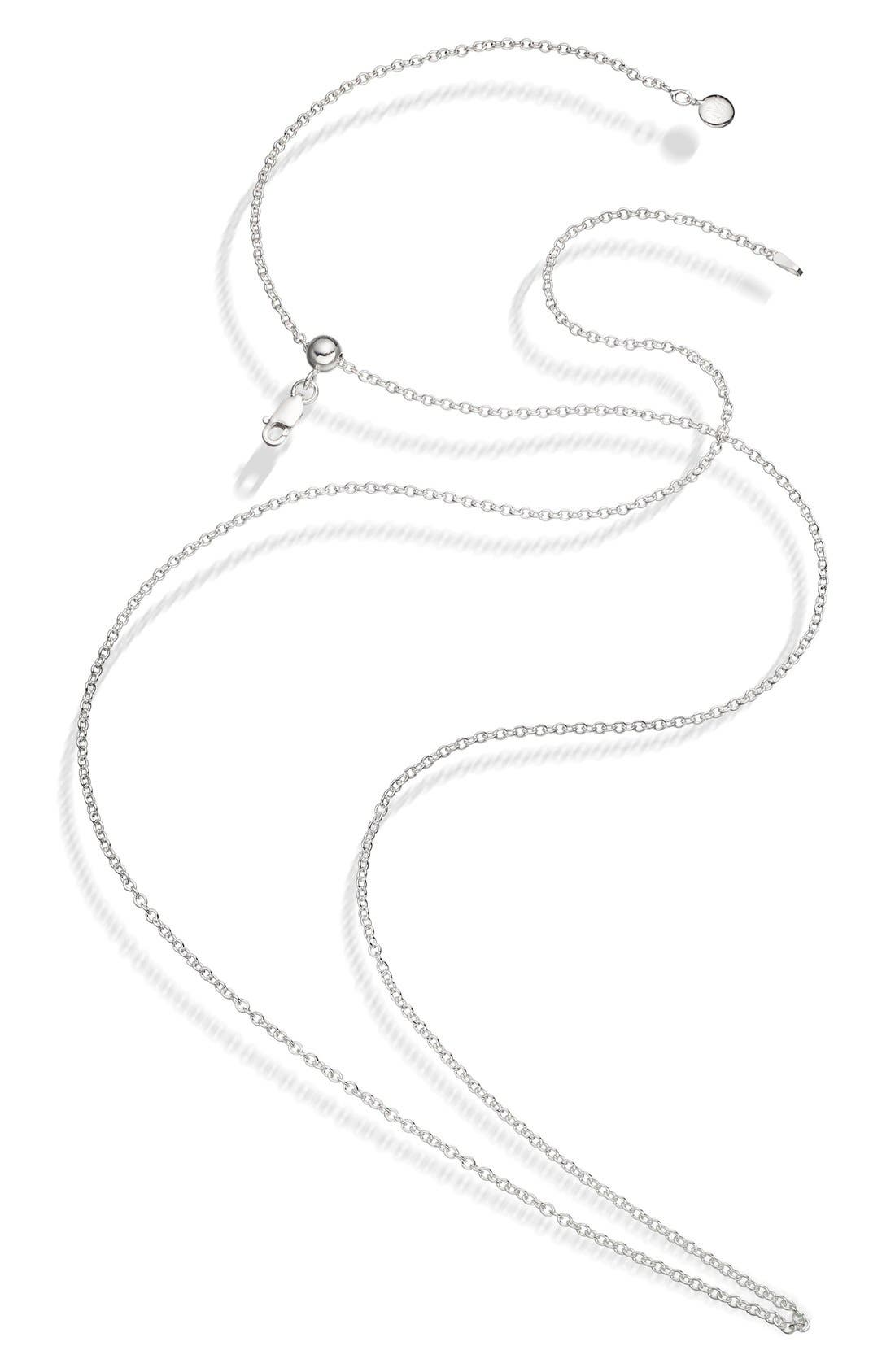 A sleek, long chain in hand-polished precious metal features a sliding bead to easily adjust it to your desired length. Pair it with your favorite pendants or layer it with other chains for a customized look. Style Name: Monica Vinader 32 Inch Adjustable Rolo Chain. Style Number: 5298449. Available in stores.