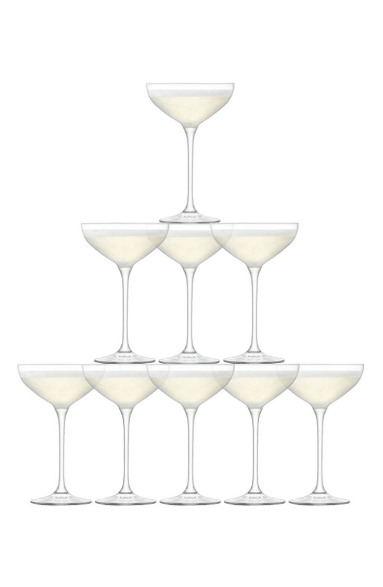 LSA Champagne Tower Set of 10 Glasses, Main, color, 100
