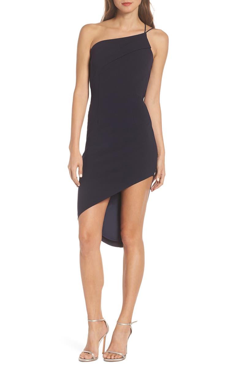 KATIE MAY Asymmetrical Sheath Dress, Main, color, 410