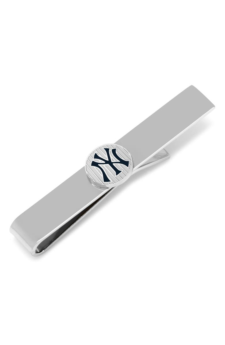 CUFFLINKS, INC. New York Yankees Tie Bar, Main, color, BLACK/ SILVER