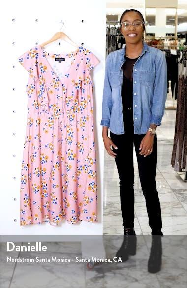 Ruffled Fit & Flare Midi Dress, sales video thumbnail