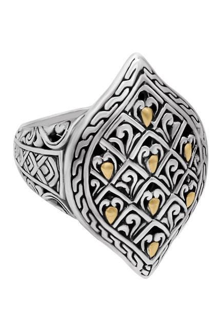 Image of DEVATA 18K Gold Accented Sterling Silver Ring
