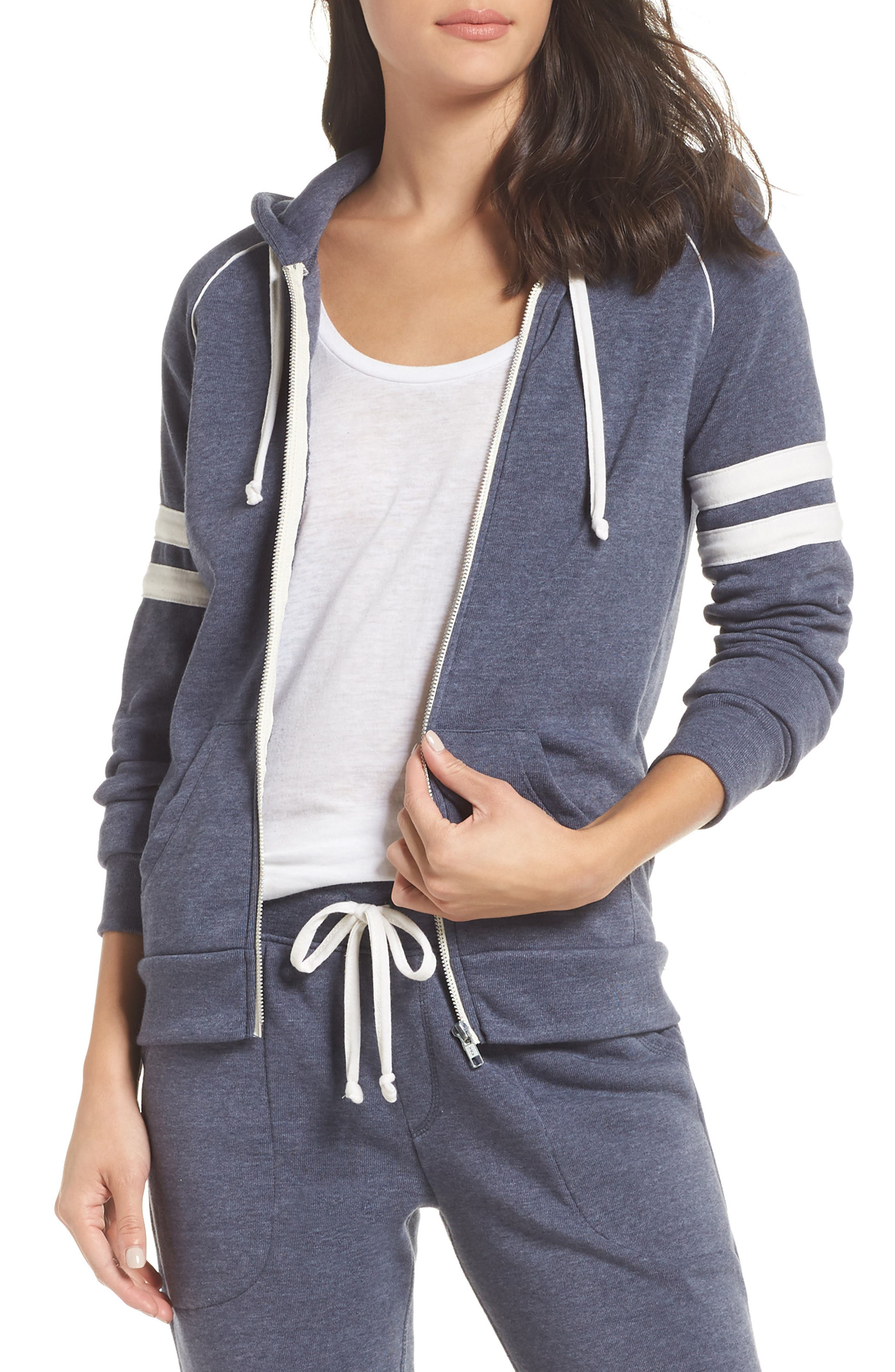 Alternative Adrian Throwback Zip Hoodie, Blue