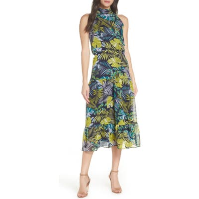 Sam Edelman Tropics Chiffon Midi Dress, Green