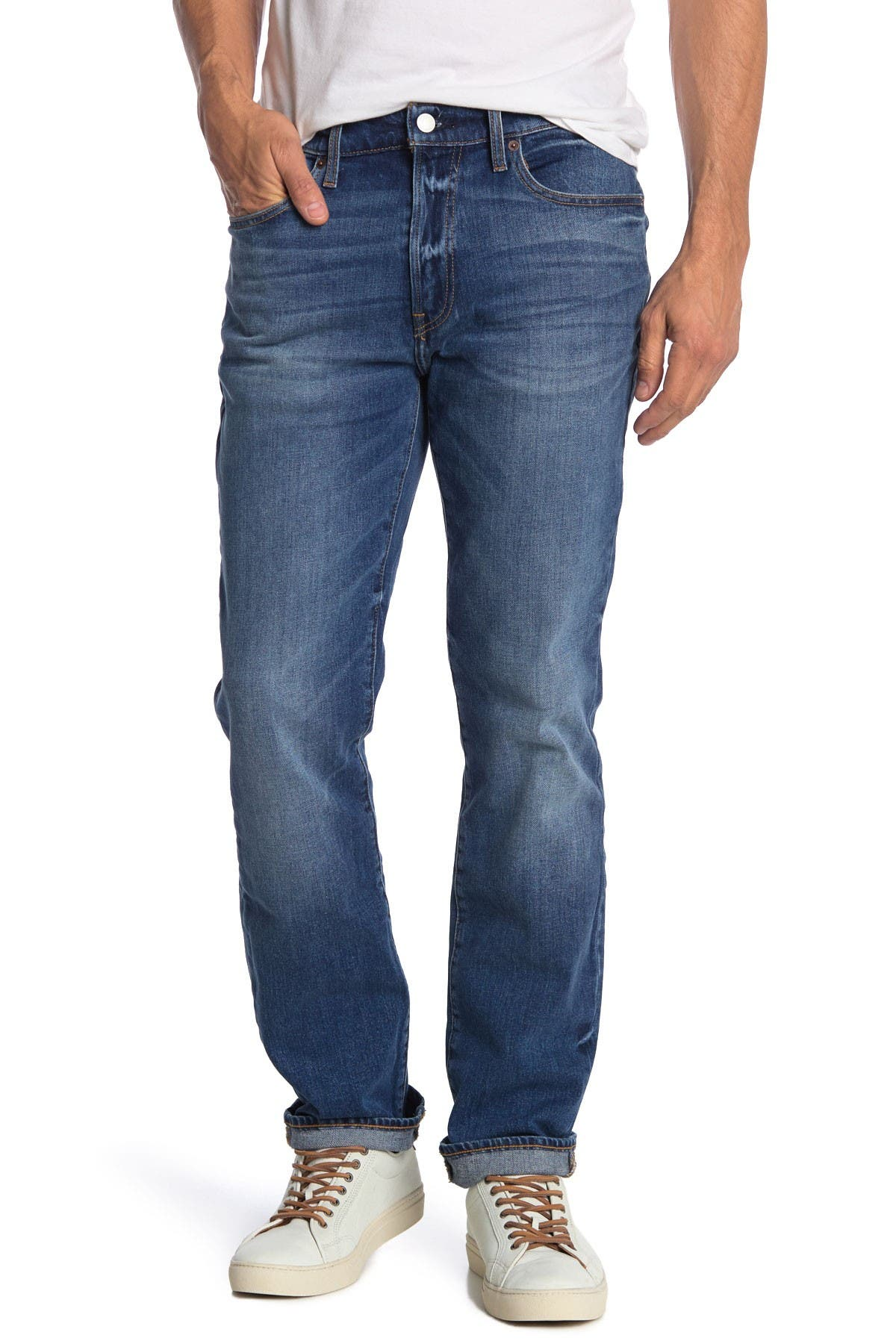 """Image of Lucky Brand 121 Slim Straight Cut Jeans - 30-34"""" Inseam"""