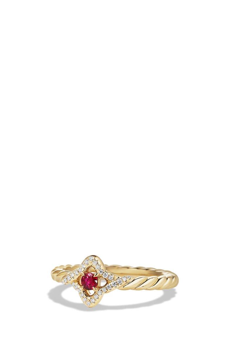 DAVID YURMAN Venetian Quatrefoil Ring in Gold, Main, color, RUBY