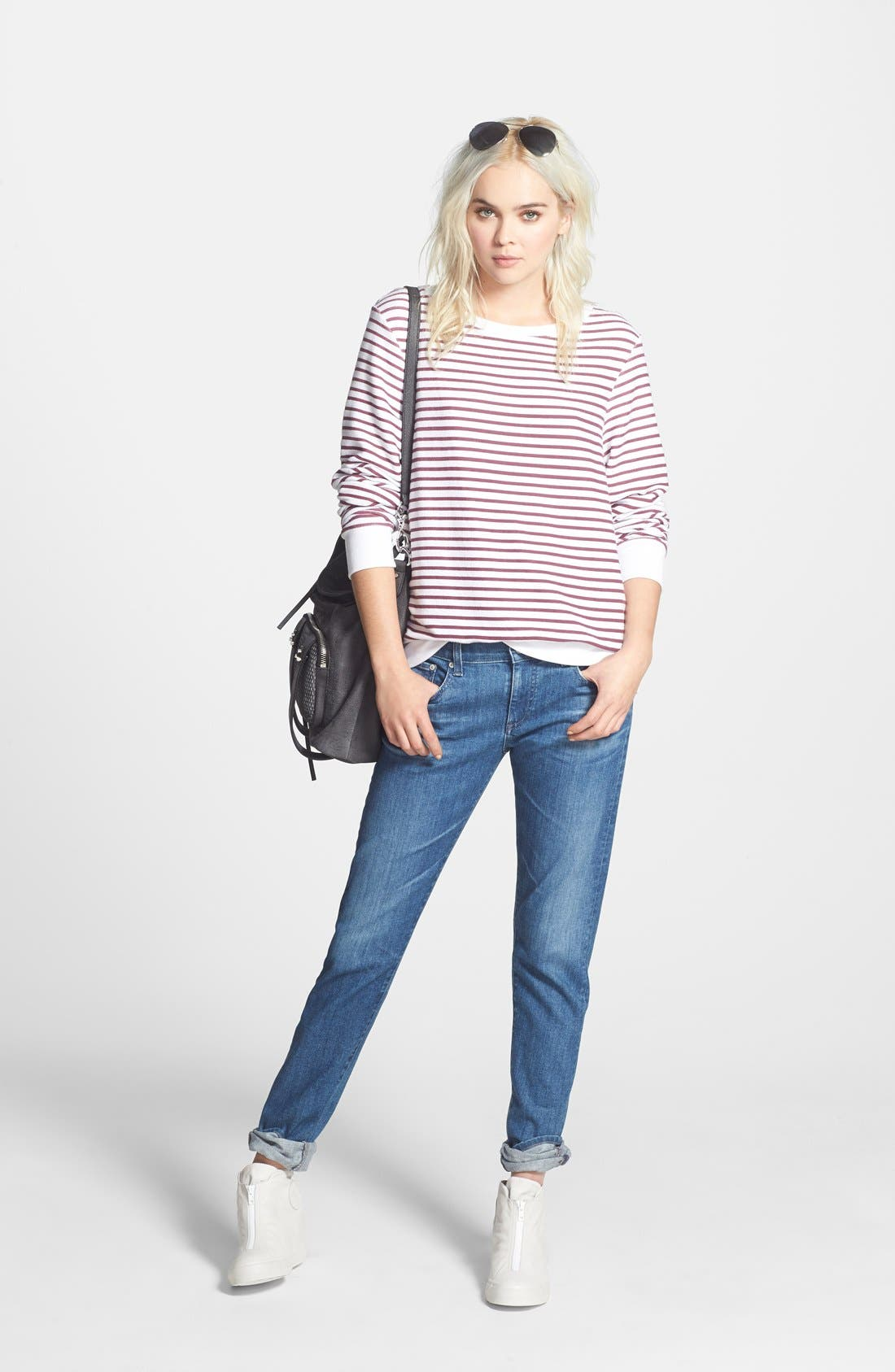 ,                             'The Nikki' Relaxed Skinny Jeans,                             Alternate thumbnail 3, color,                             400