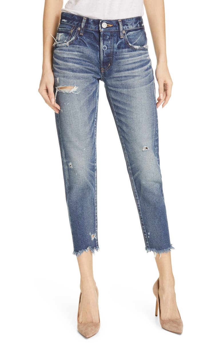 MOUSSY VINTAGE Kelley Tapered Crop Jeans, Main, color, 400