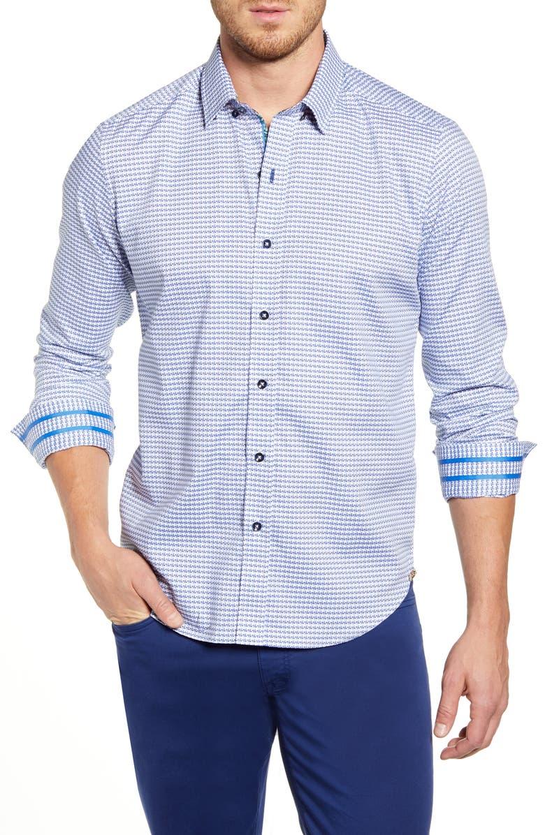 ROBERT GRAHAM Miller Regular Fit Button-Up Sport Shirt, Main, color, LIGHT BLUE