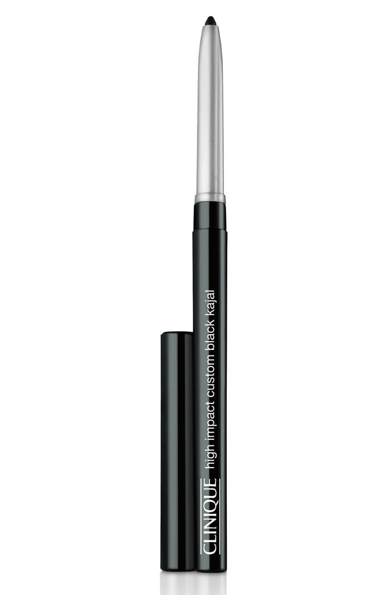 CLINIQUE High Impact Custom Black Kajal Eyeliner Pencil, Main, color, BLACK