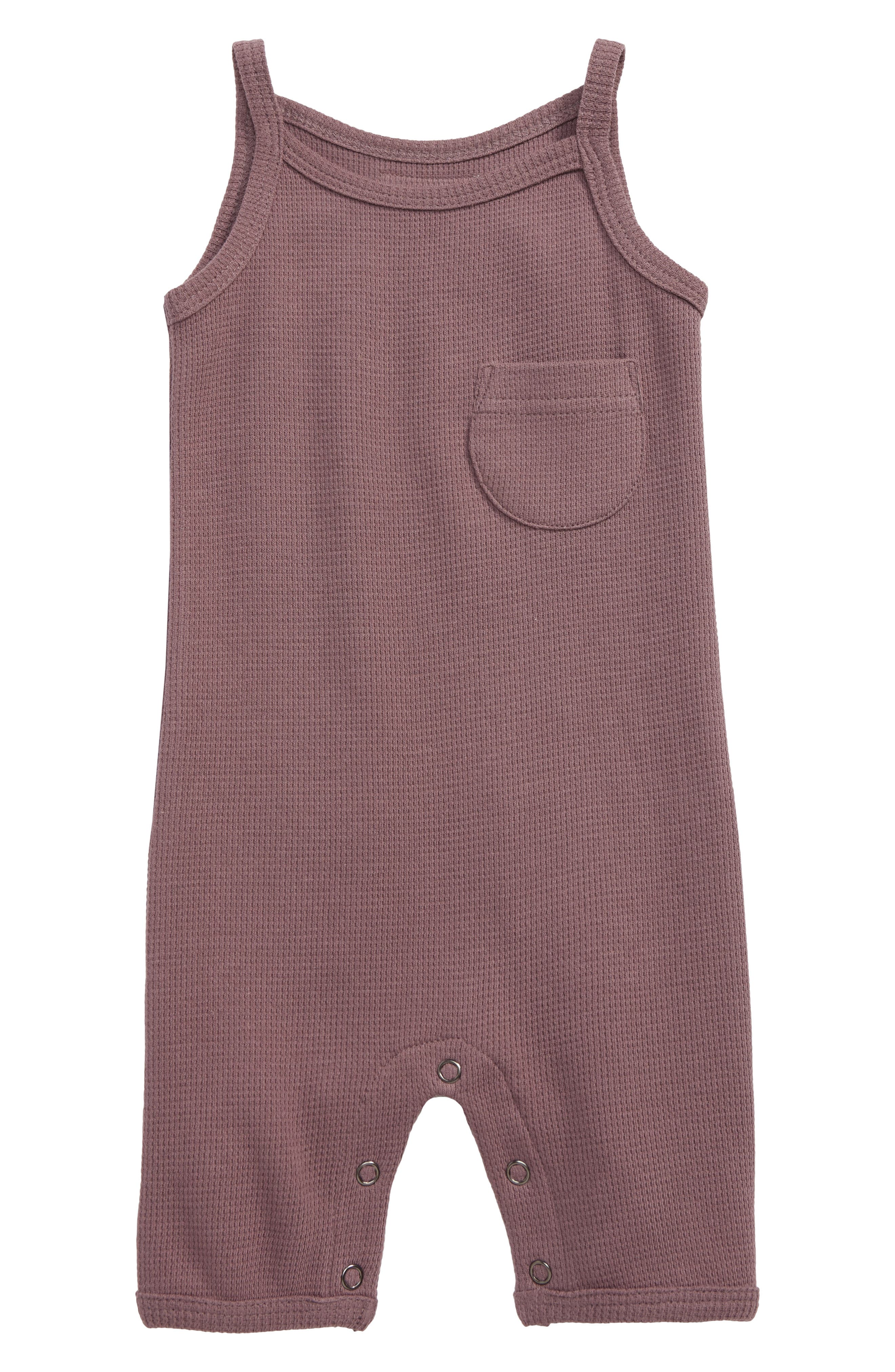 Infant Girls LOvedbaby Thermal Organic Cotton Romper Size 69m (1619 lbs)  Purple