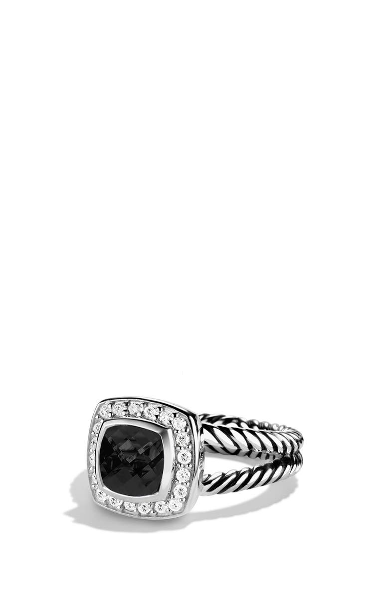 DAVID YURMAN Albion Petite Ring with Semiprecious Stone & Diamonds, Main, color, BLACK ONYX