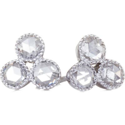 Sethi Couture Three Diamond Stud Earrings