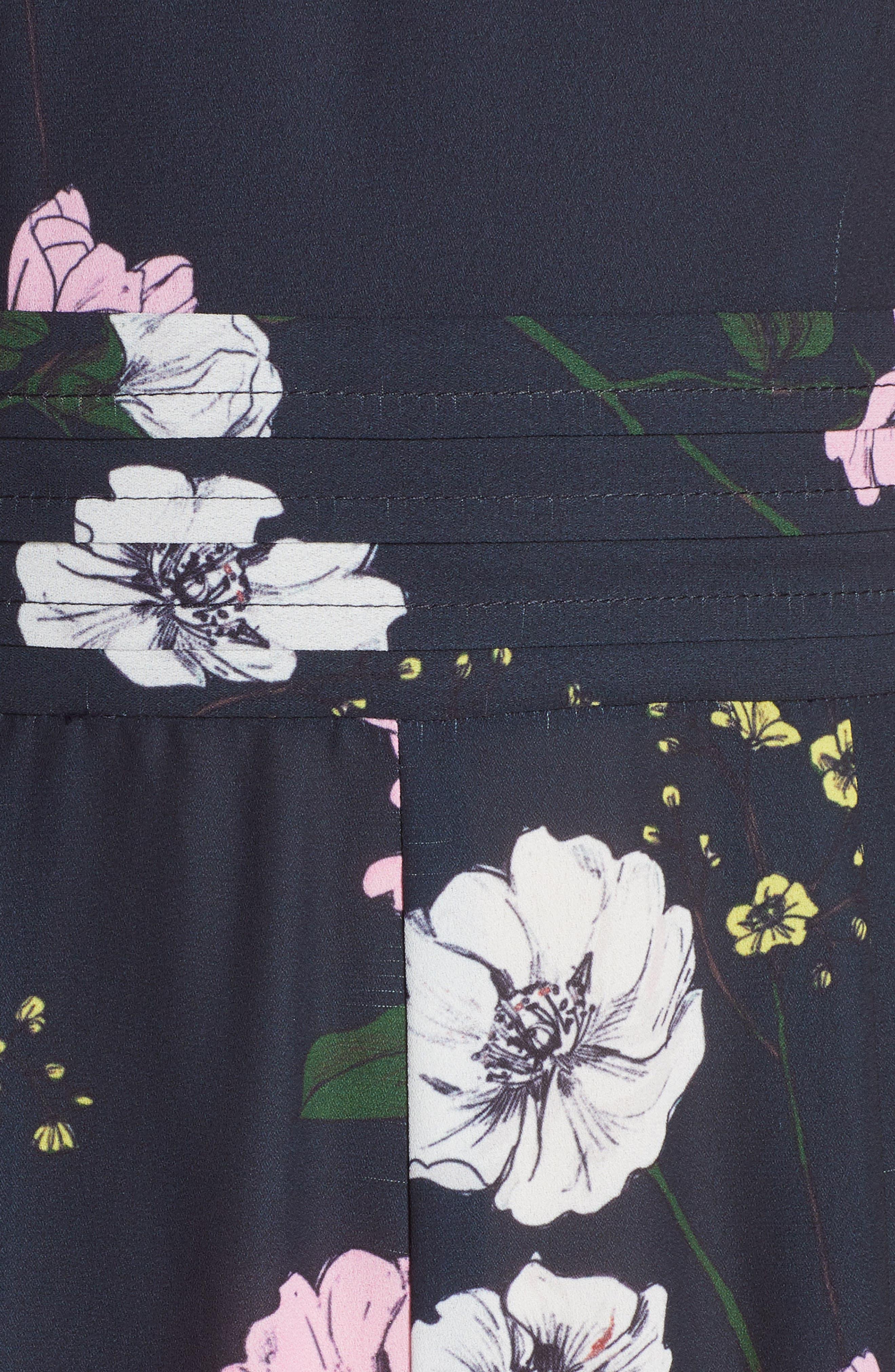 ,                             Darkness Floral Jumpsuit,                             Alternate thumbnail 6, color,                             NAVY BLOOM