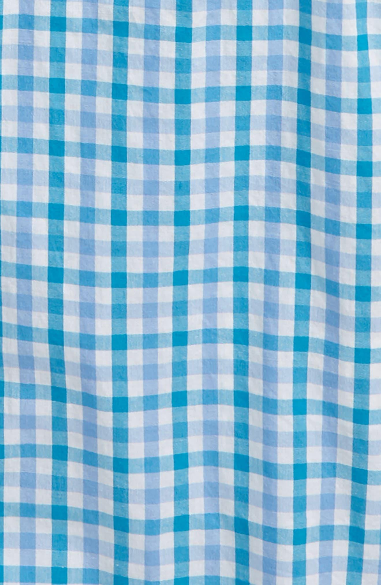 ,                             Gingham Button Down Shirt,                             Alternate thumbnail 2, color,                             BRIGHT AQUA