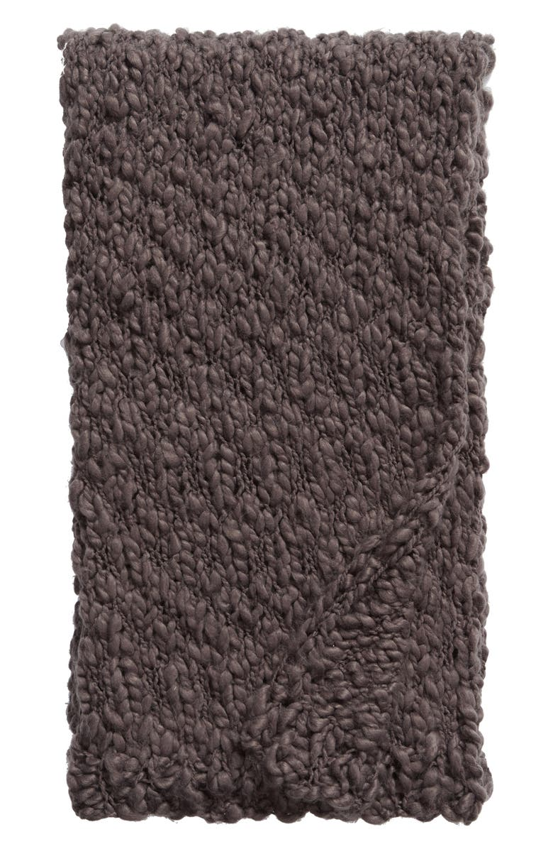 TREASURE & BOND Knit Throw, Main, color, GREY ONYX