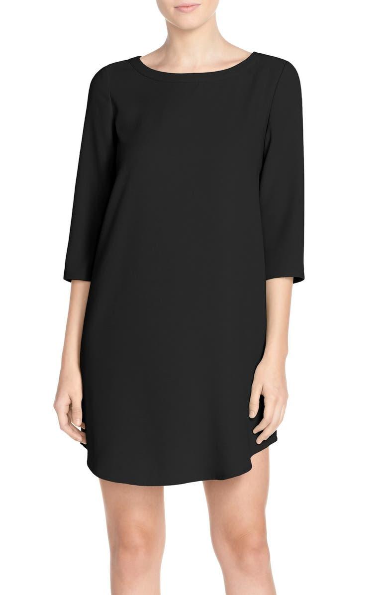 BB DAKOTA Jazlyn Crepe Shift Dress, Main, color, BLACK