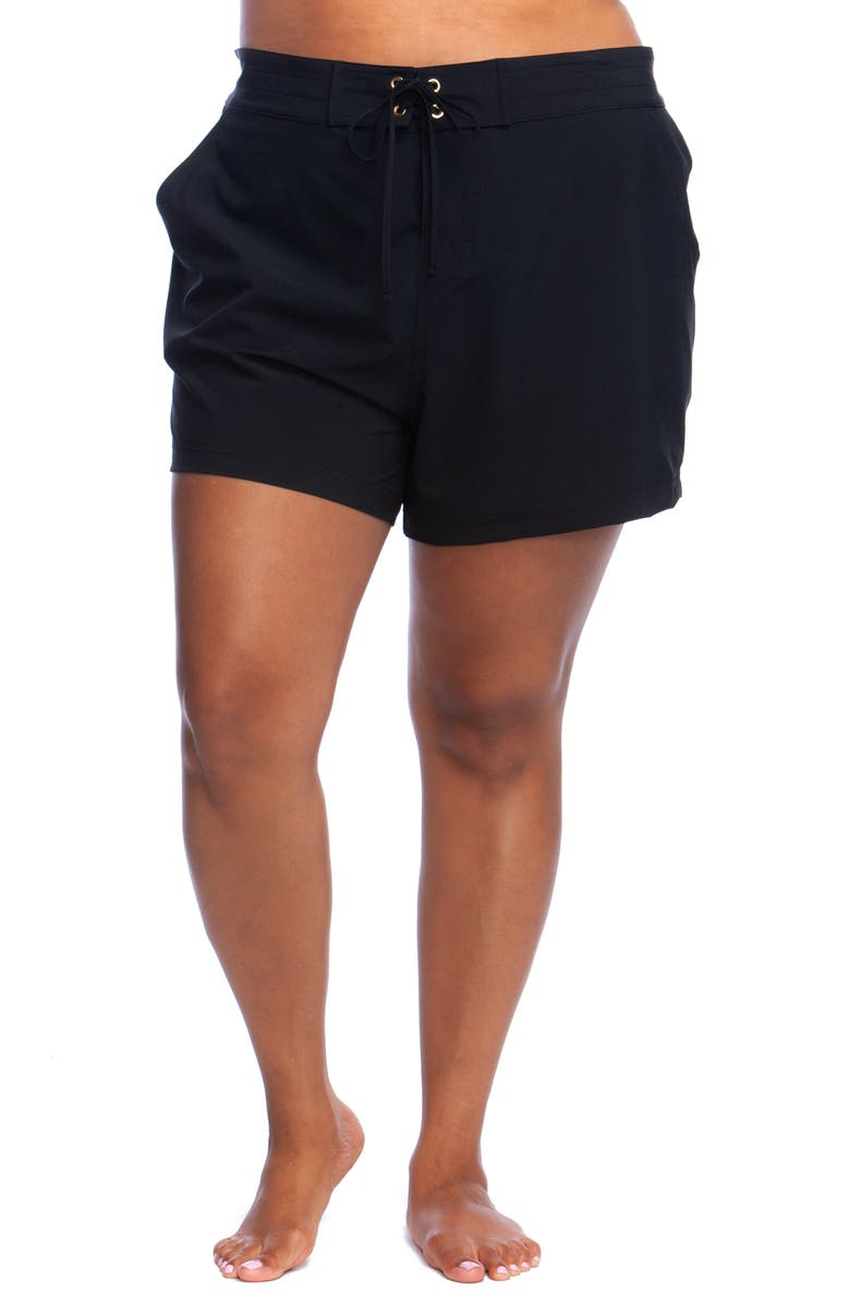 LA BLANCA 4-Inch Board Shorts, Main, color, BLACK