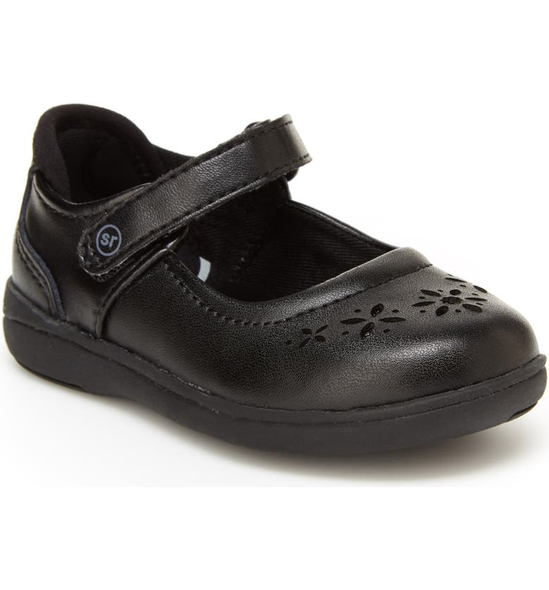 STRIDE RITE Maebell Mary Jane Flat, Main, color, BLACK